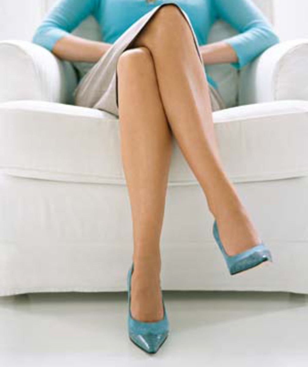 Not all crossed legs are cross!