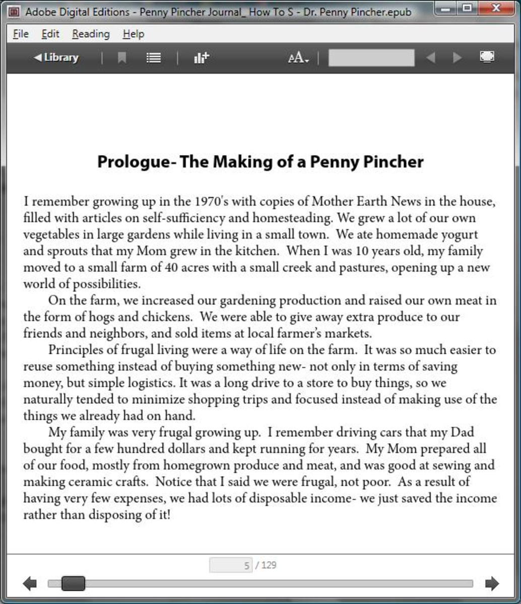 How Will Your eBook Look?  Preview epub Format in Adobe Digital Editions.