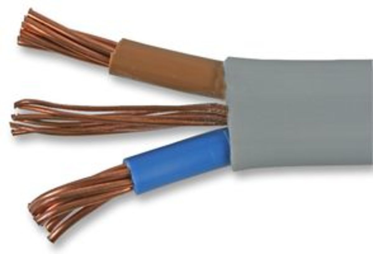 Heavy-duty electrical cable (twin and earth).