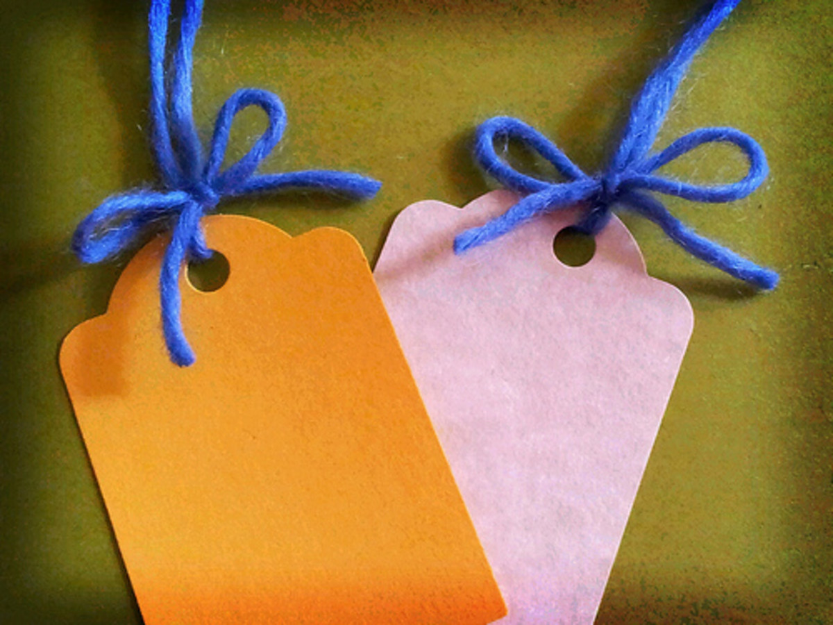 These are great tags for clothing and other soft goods.