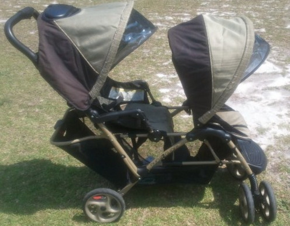 A double stroller from Craigslist.com for only $60.