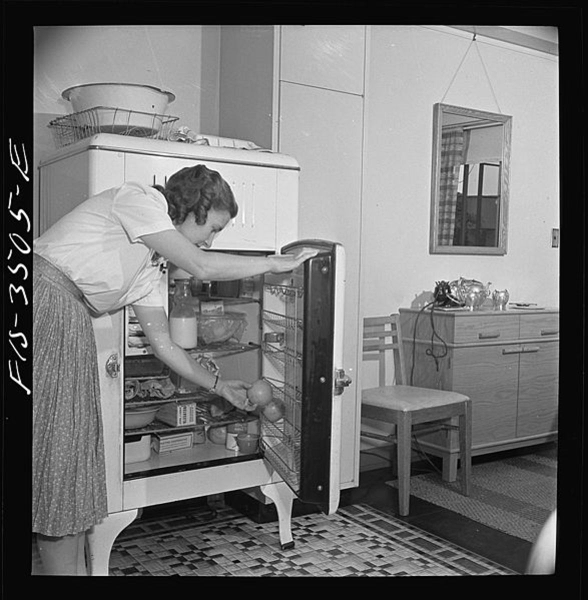 Old fashioned ice boxes would often use actual ice to keep the refrigerator cool.