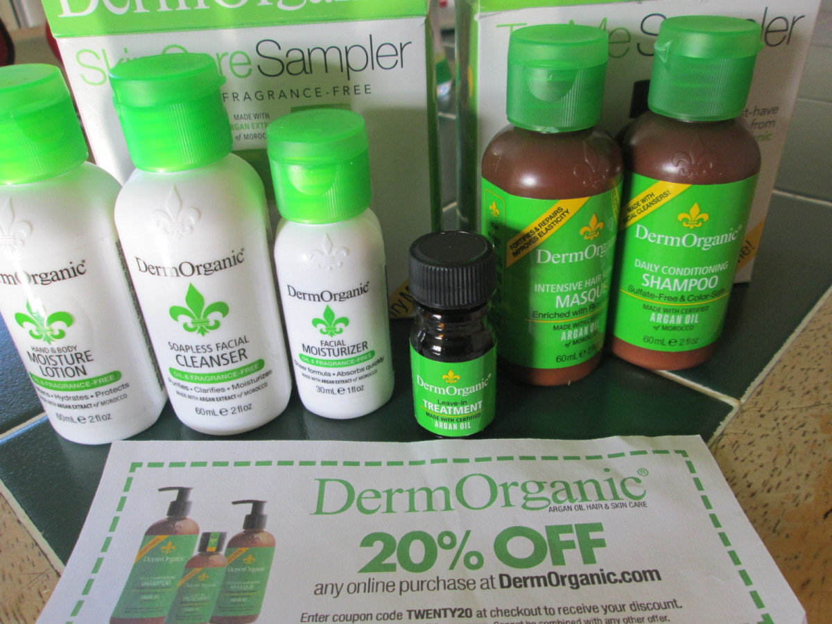 I got a 20% off coupon from DermOrganic too, along with the samples.