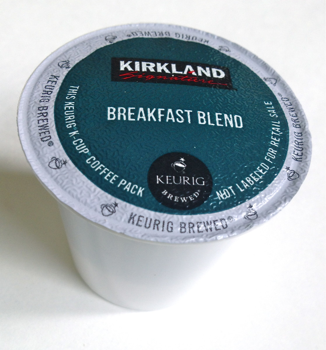 Coffee pods are expensive but are much more affordable when you purchase the Kirkland brand.