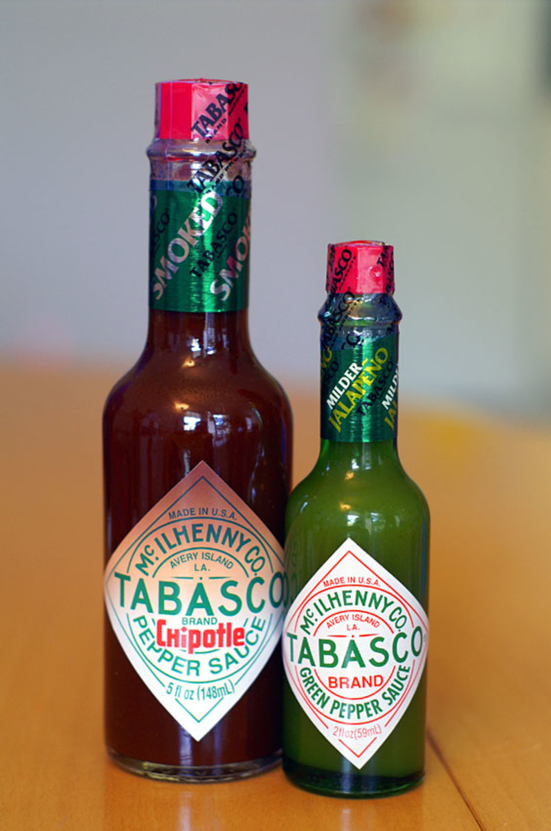 a few drops of something hot (like Tabasco sauce) can quickly get rid of your stuffy nose!