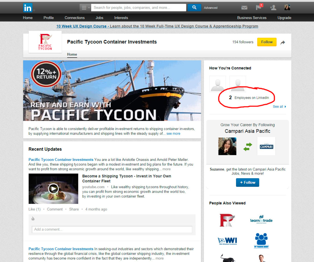 Pacific Tycoon is so big, it even has 2 employees on LinkedIn!