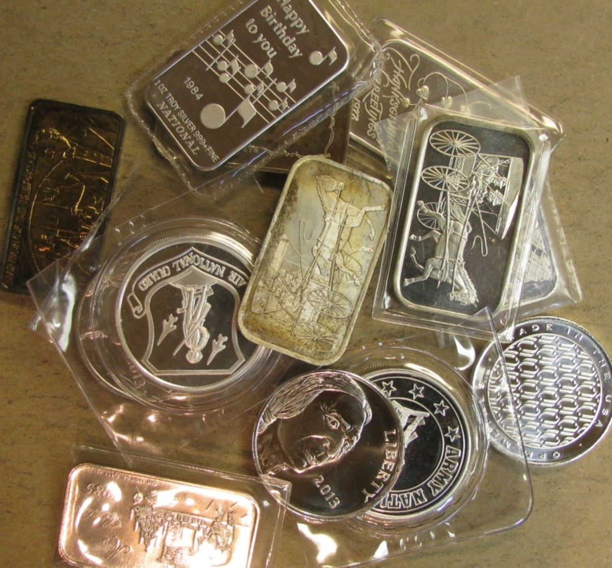 999 Fine Silver Bullion Bars and Rounds