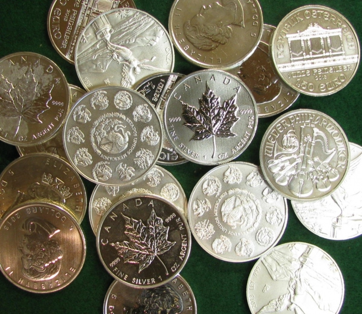 World Silver Bullion Coins