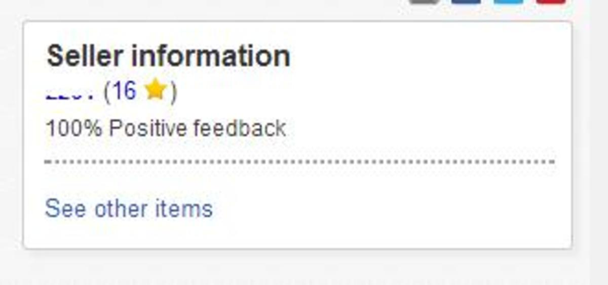 A 100% positive feedback and good feedback score will help you sell items on eBay