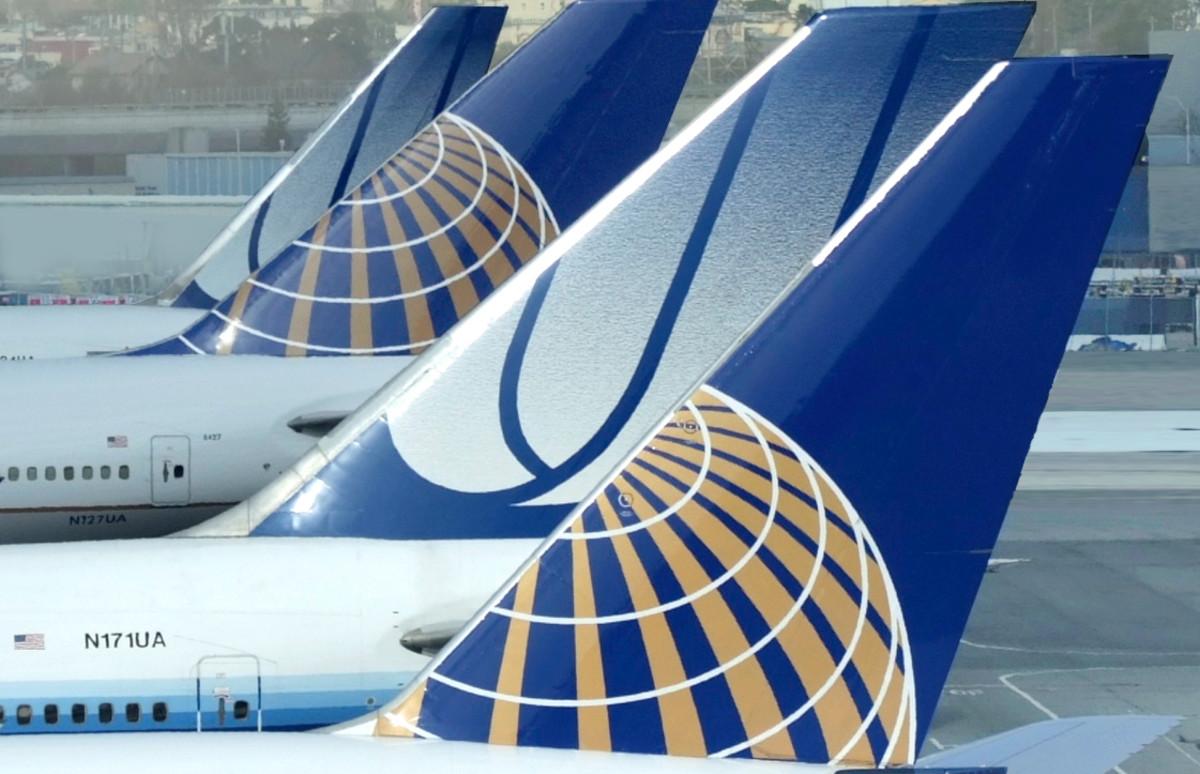 Continental and United Aircraft at Gates
