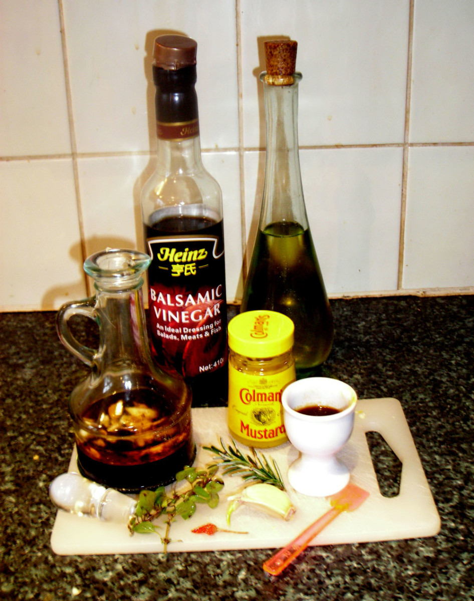 Ingredients for the salad dressing.