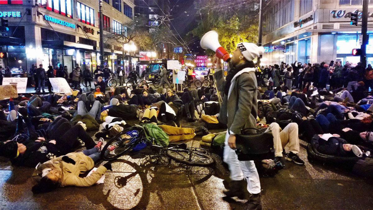 Demonstrations such as die-ins quickly get attention when they tie up traffic and prevent others from getting to work or when they shut businesses down.