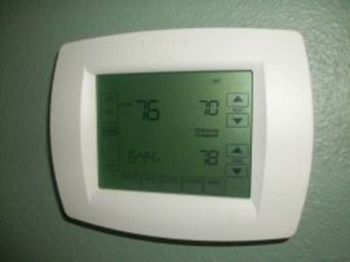 A programmable thermostat like this can help a lot with a time of day fee schedule.
