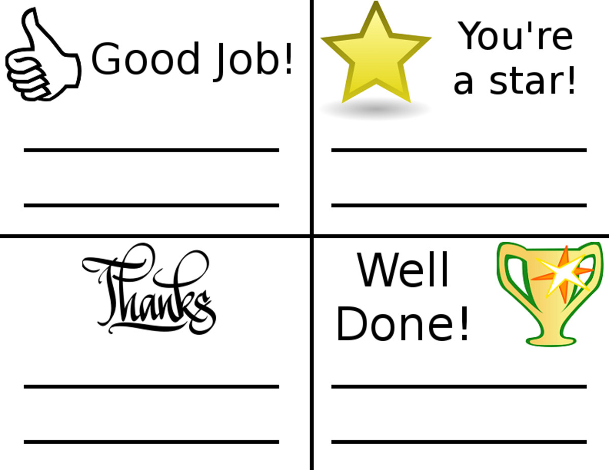 Print out these cards, write a small note, and give them to your employees so that they will feel appreciated and motivated.