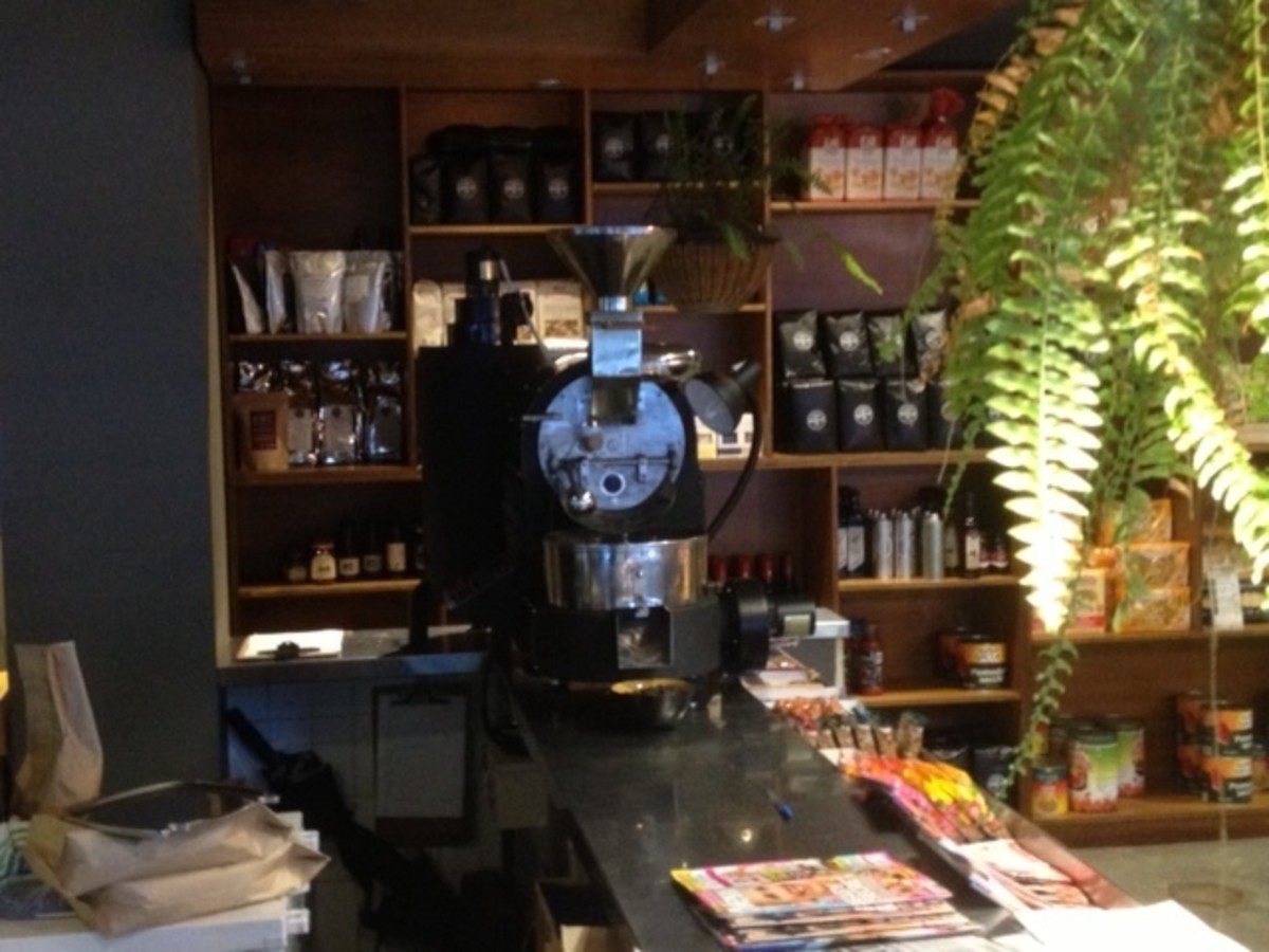 This was the first cafe I roasted coffee for.
