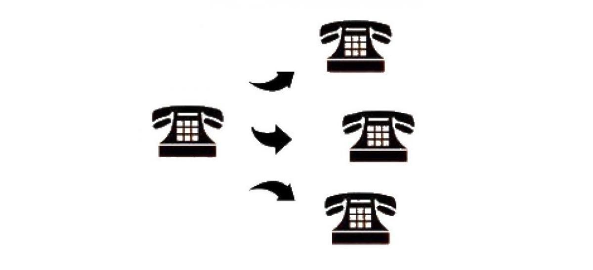 可以通过滚动到下一个可用行来接收多个来电呼叫。