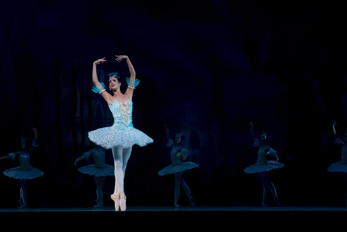 A ballerina on stage.