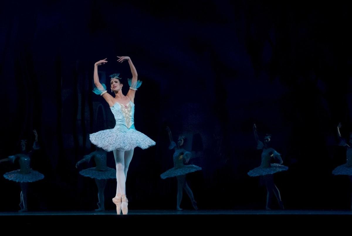 A ballerina on stage.