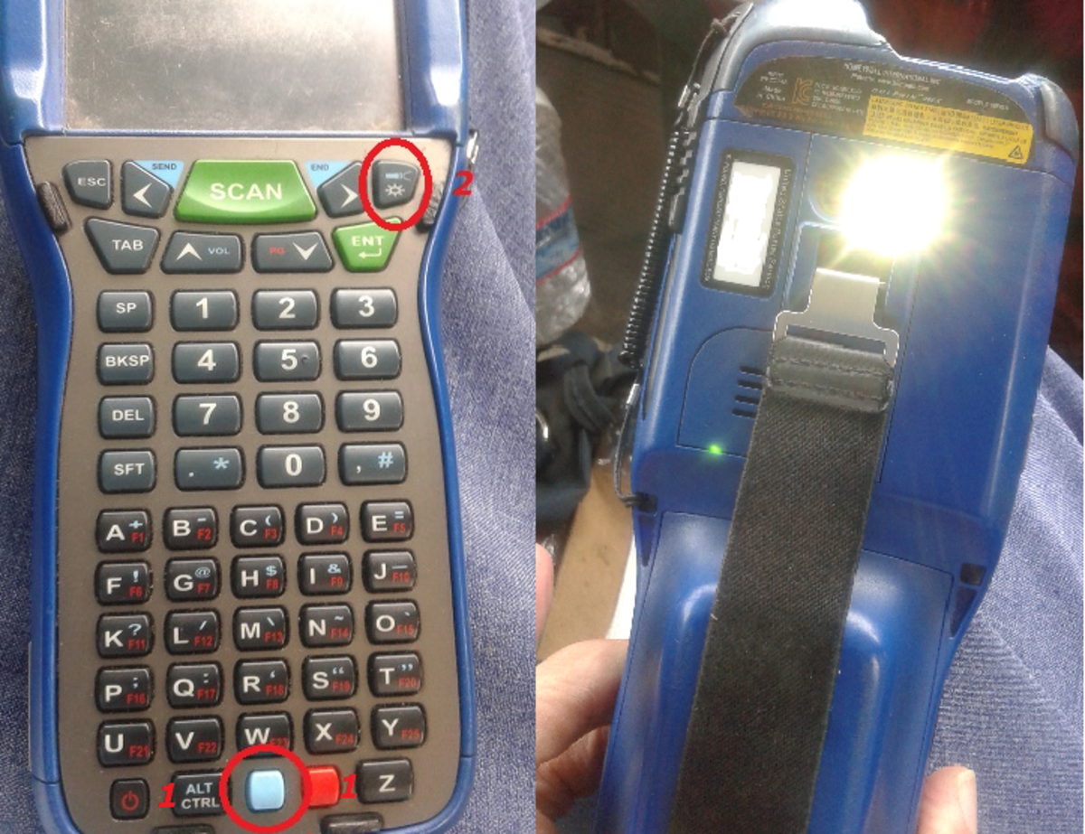 In a pinch, your scanner will work as a makeshift flashlight