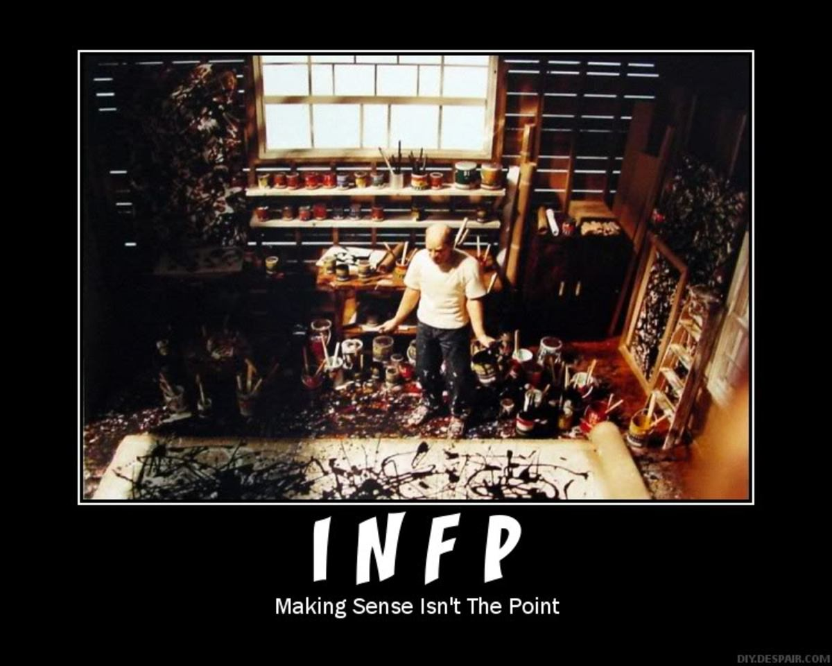 The creativity of the INFP is a major benefit at work.
