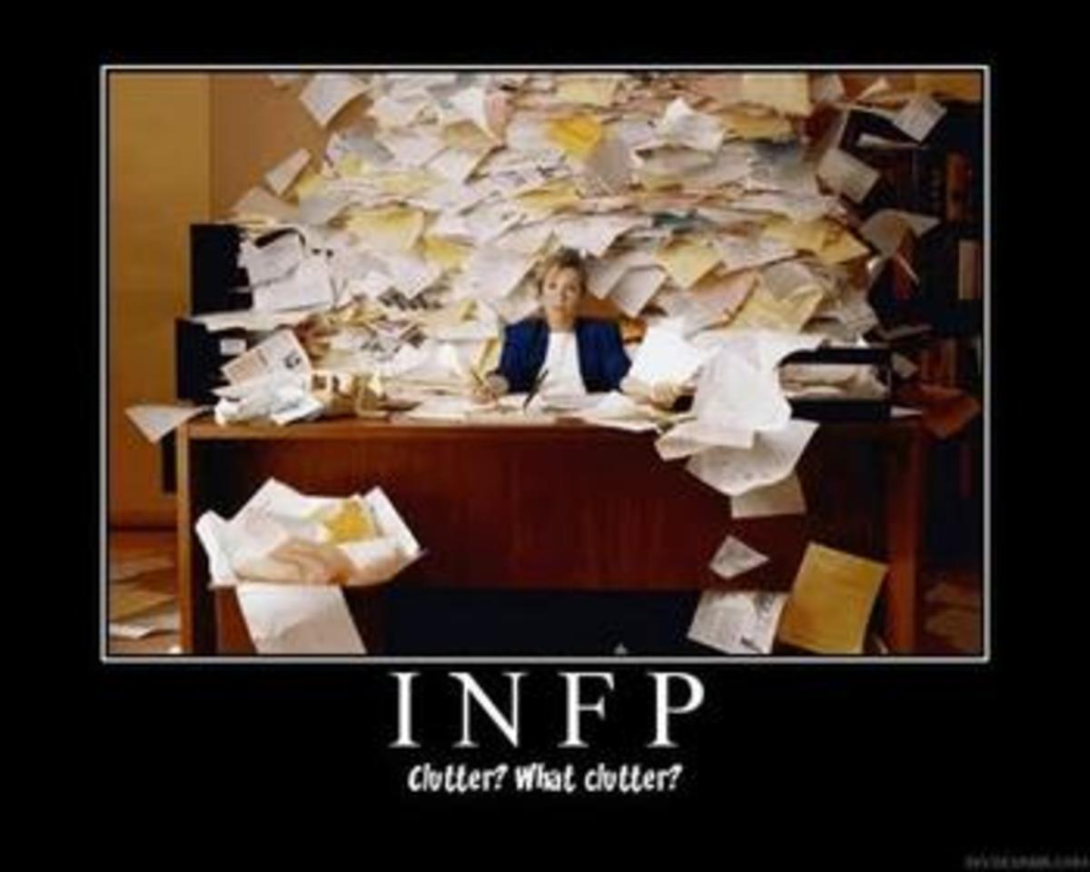INFPs like chaos, which doesn't always fit into the corporate world.