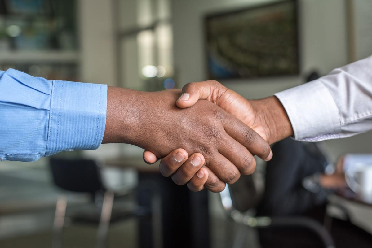 A firm handshake sets the tone for your encounter and puts you in the driver's seat.