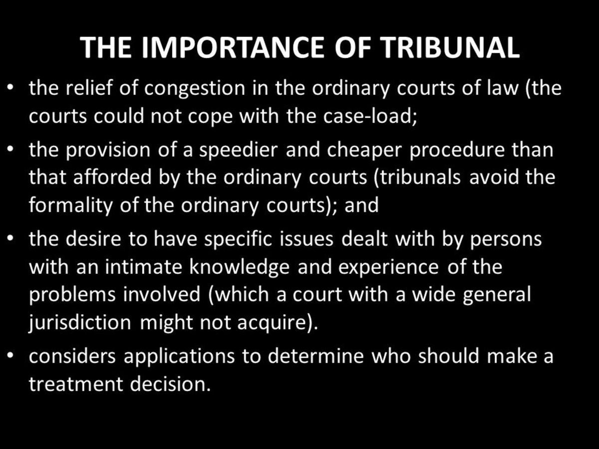 Why the employment tribunal is important.