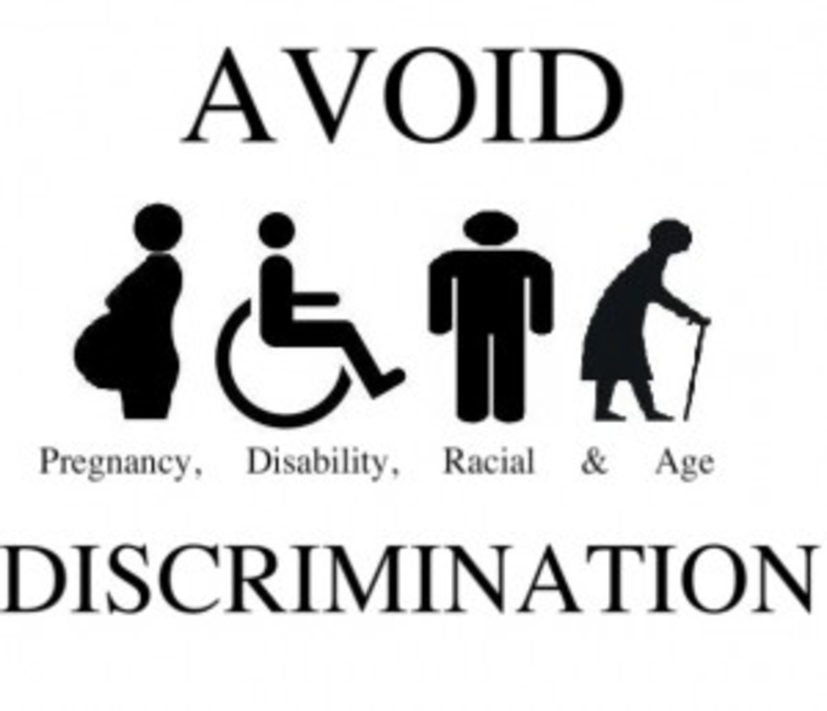 All types of discrimination must be avoided.