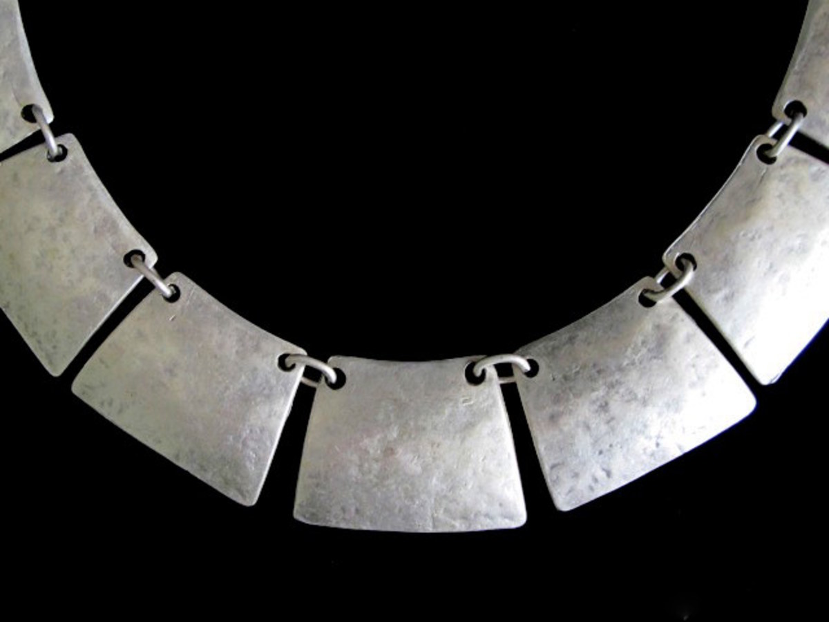 A silver-plated necklace
