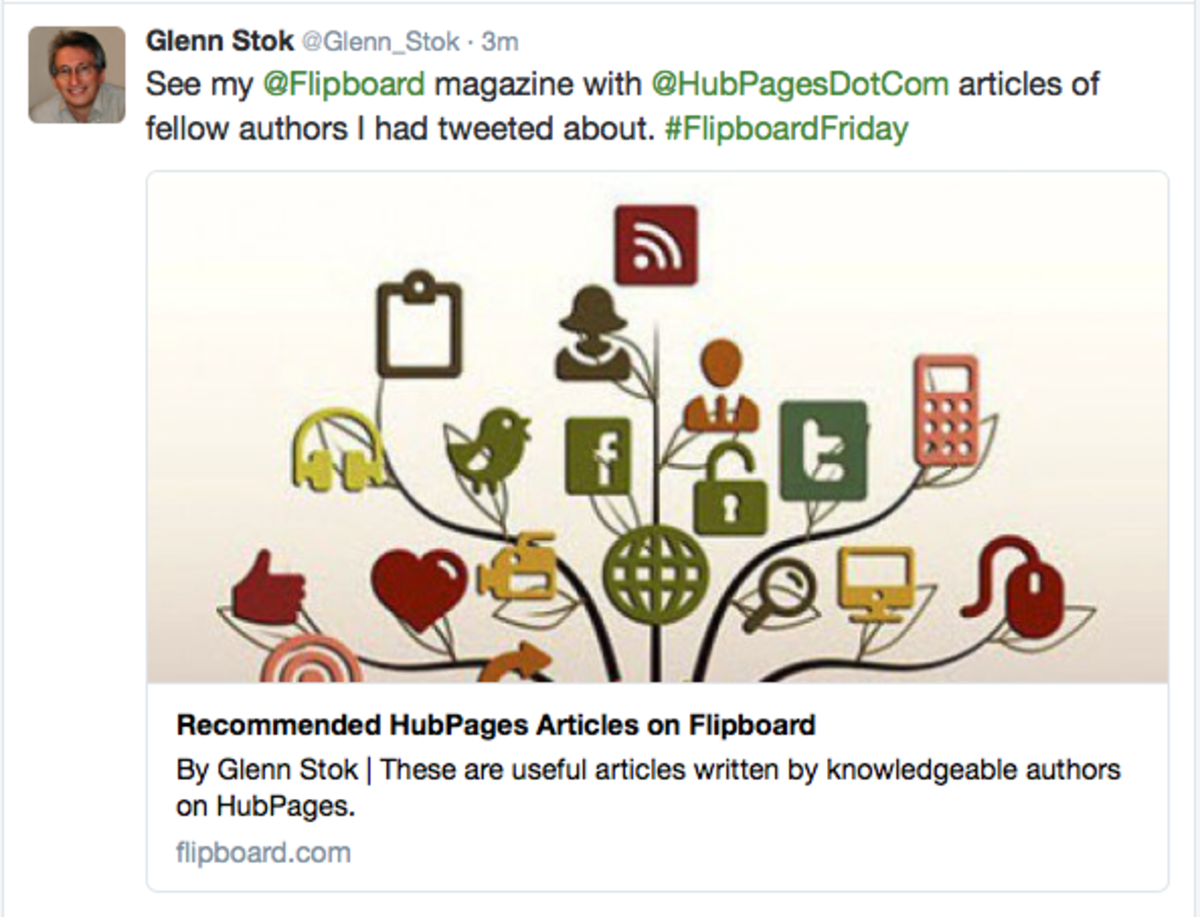 My tweet about a magazine I created.