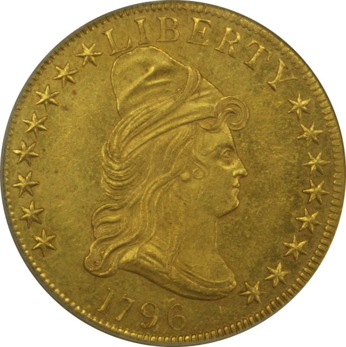 1796 $10 Gold Eagle struck by the United States Mint.
