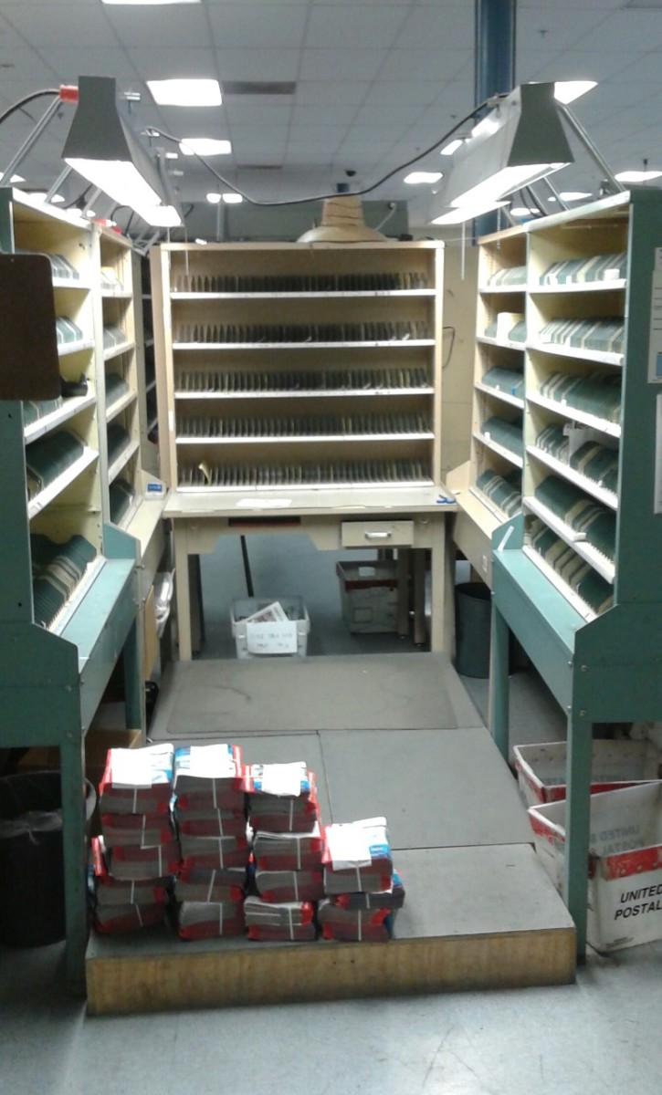 In the past, Letter Carrier cases were so big they resembled Public Libraries in the sheer amount of shelves.