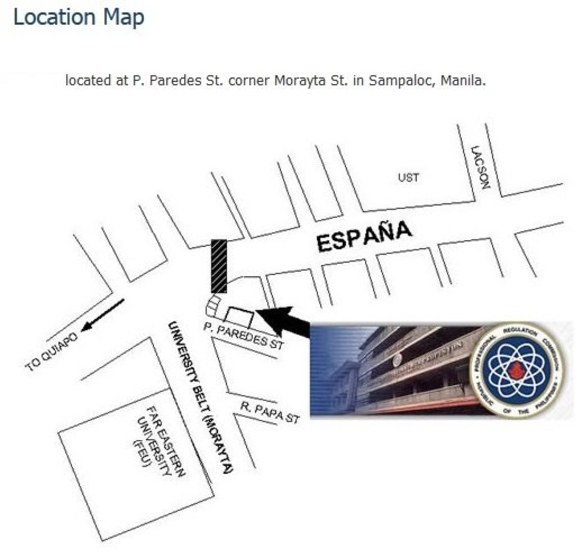 Where the PRC office is located.