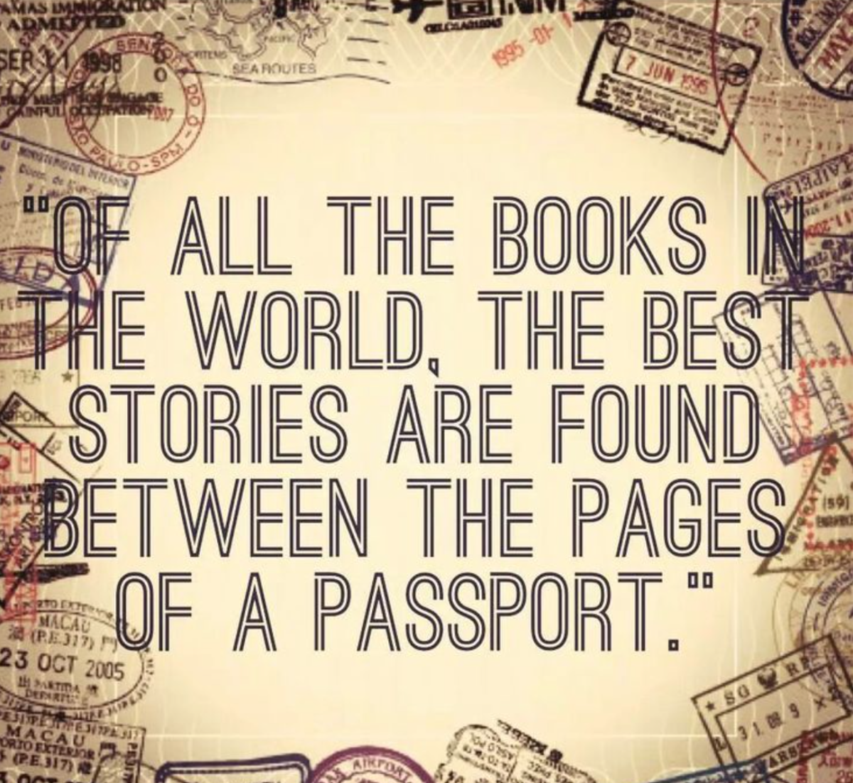 Travel is great for story telling!