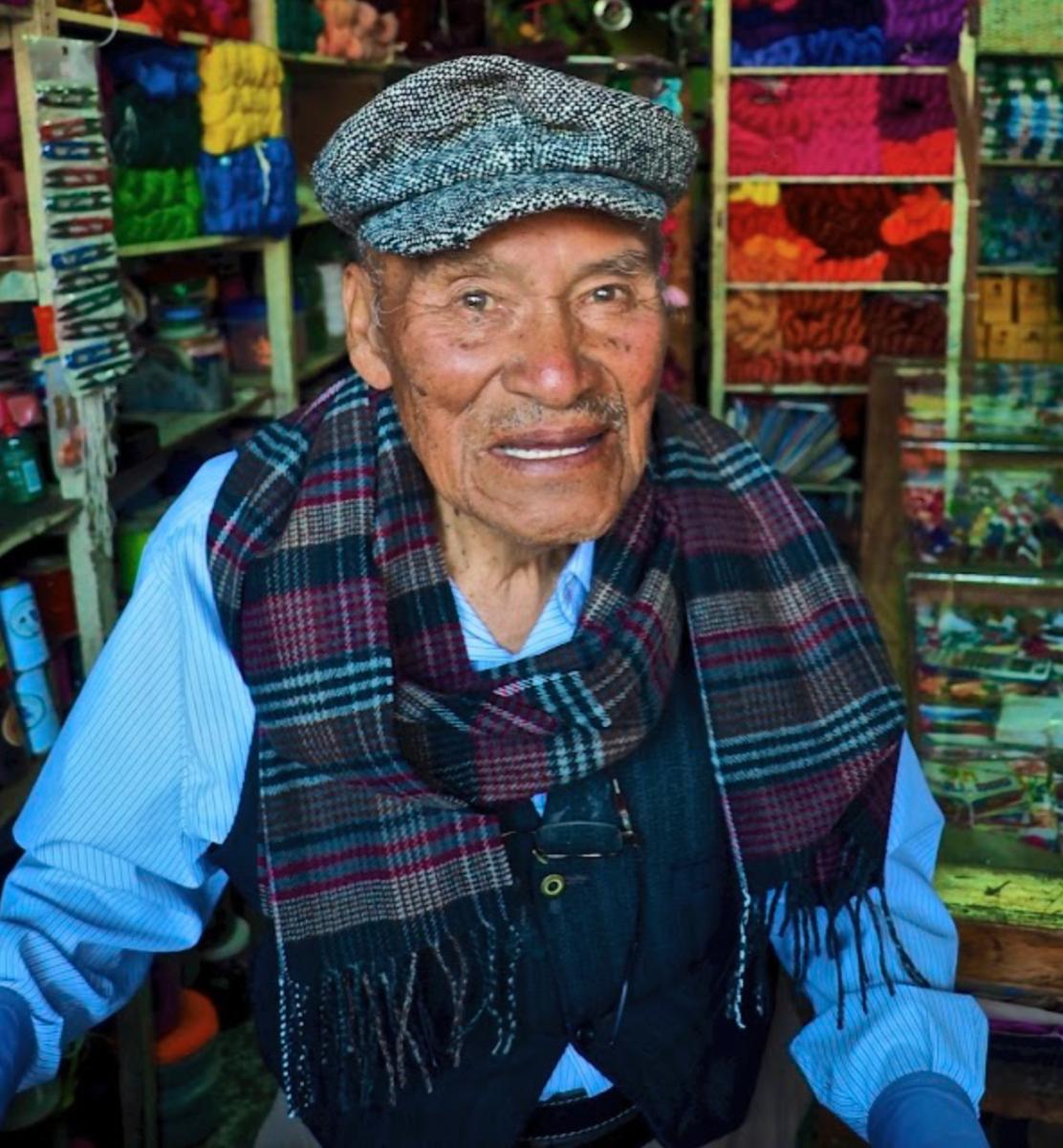 A vendor in Quetzaltenango, Guatemala