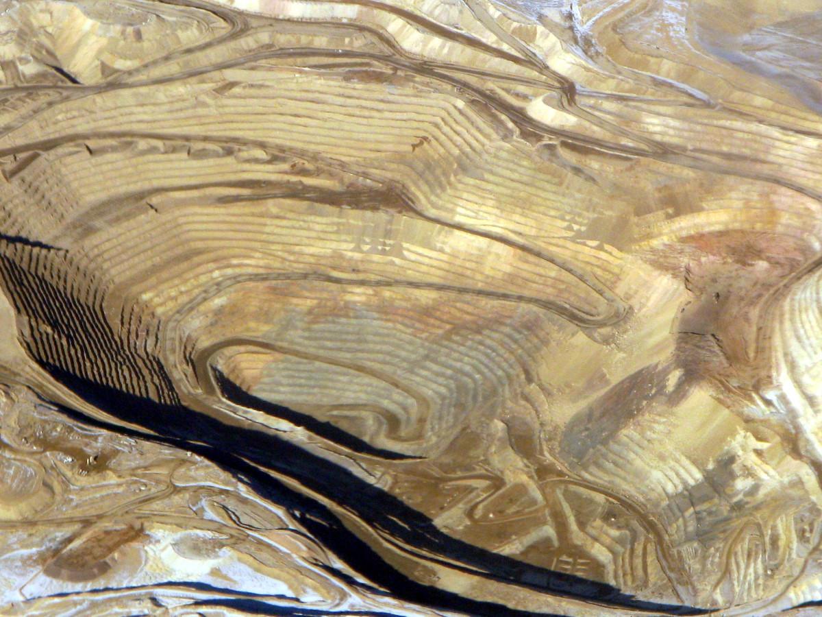 Round Mountain gold mine, aerial photo, 2008. Located in Big Smokey Valley, Nevada.