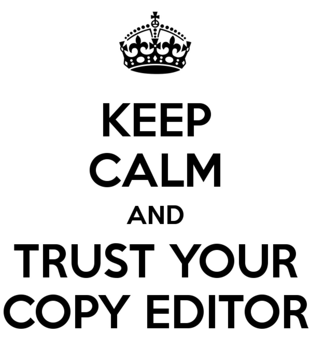 Copy editors will help you make your manuscript glow.