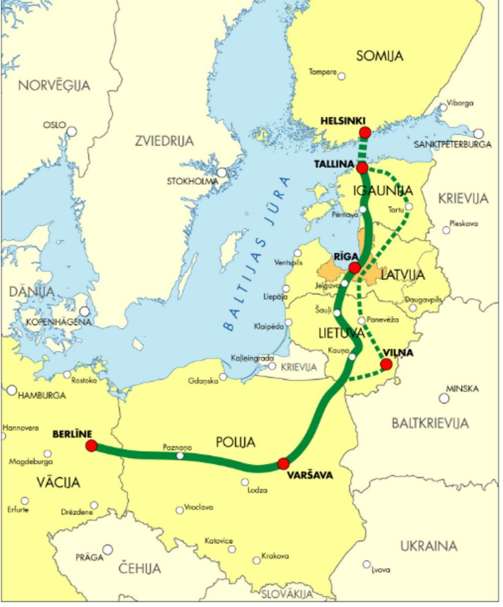 快速运输至关重要。这个子弹列车将德国与爱沙尼亚联系在一起。
