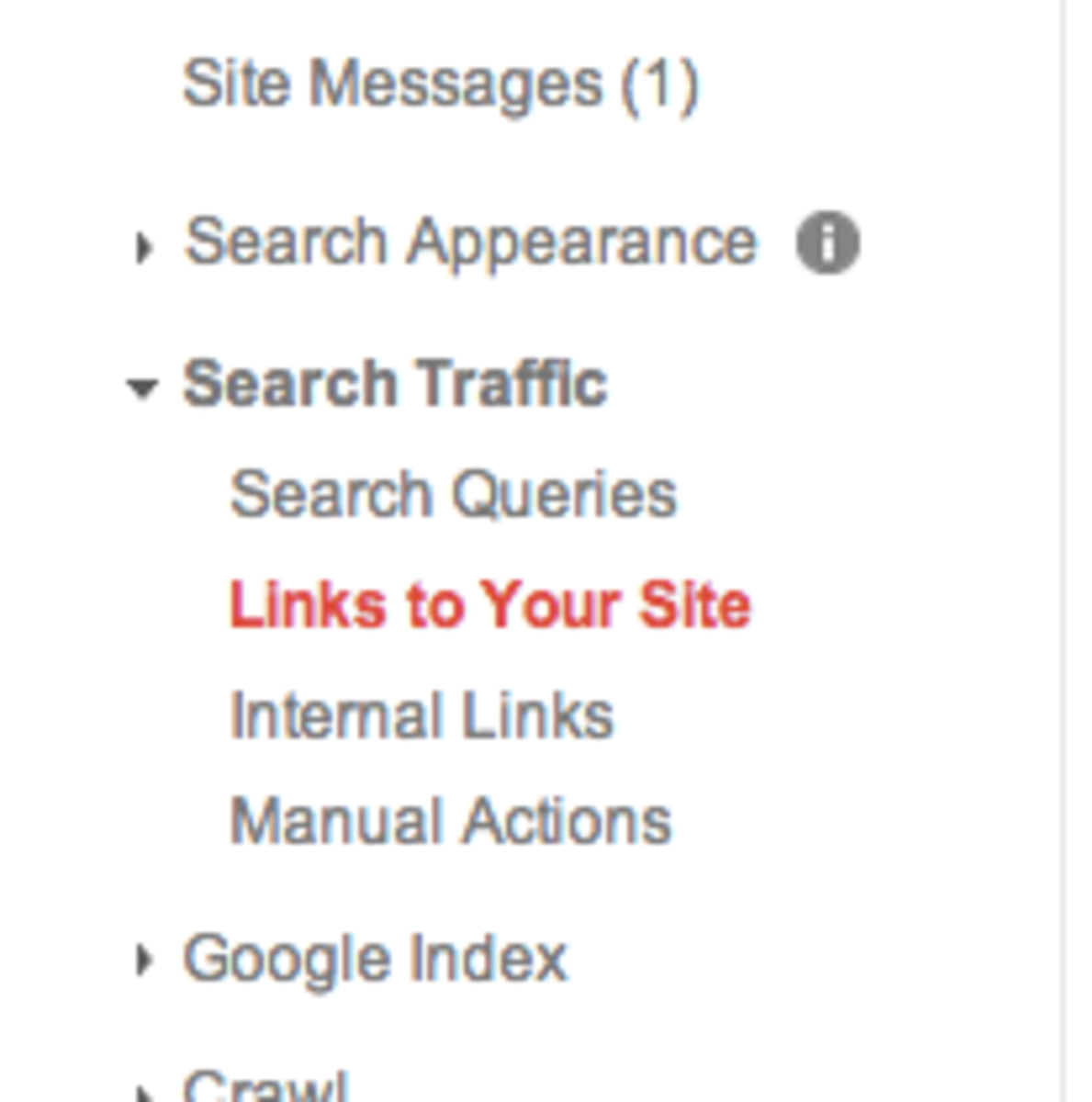 Search Traffic   Links to Your Site