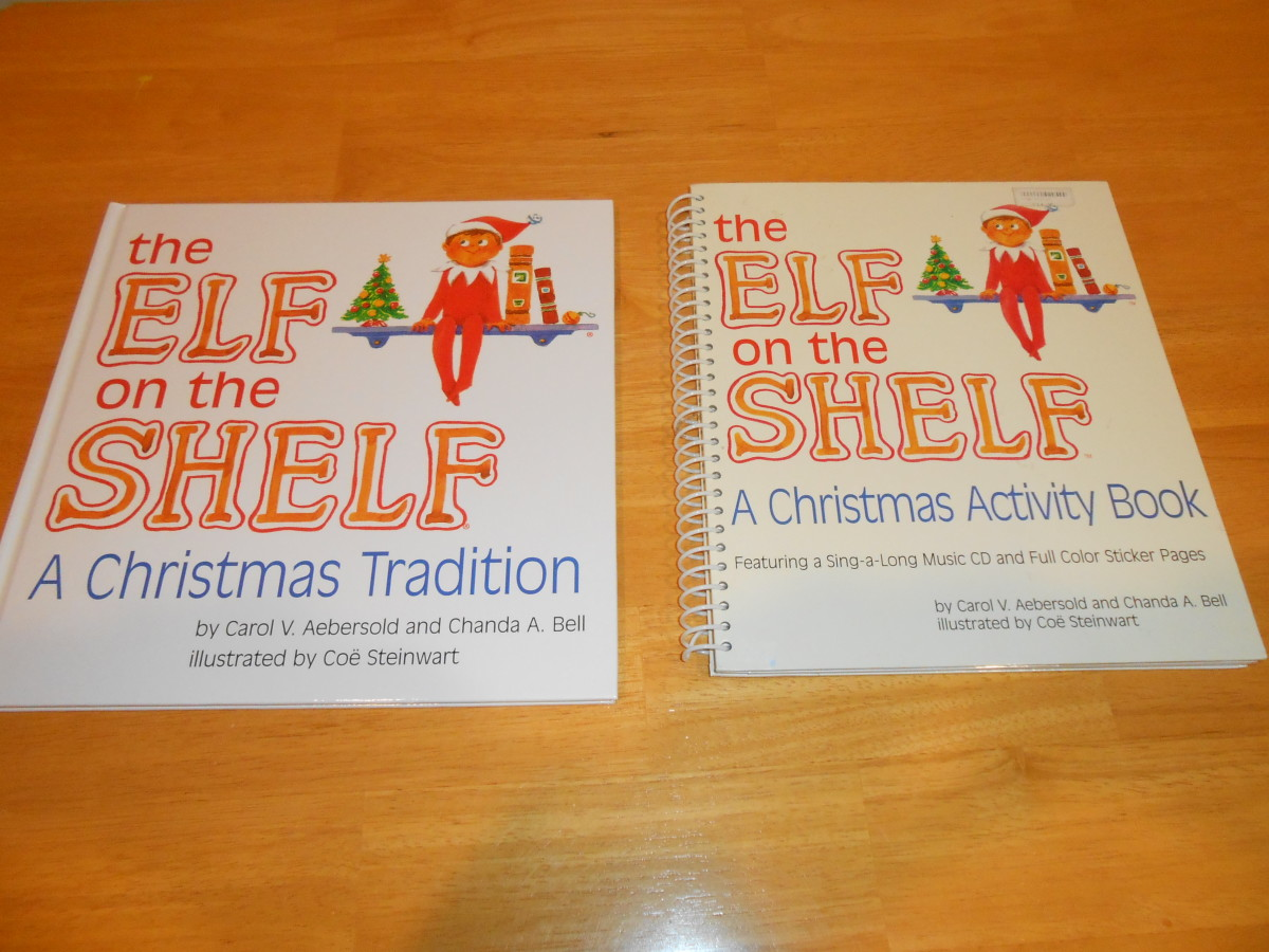 The Elf on the Shelf hardcover book ($1.77) and the paperback workbook (77 cents) but 25% discount.