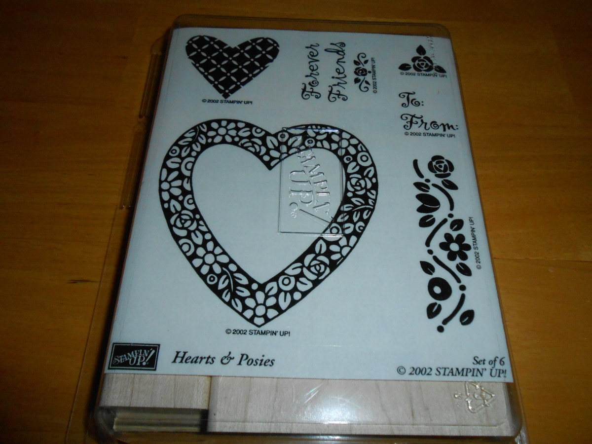 Brand new Stampin' Up set of stamps for card making and scrap books was $3.96 at Goodwill.