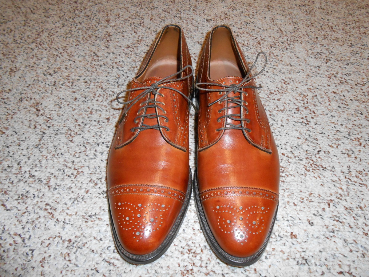 Allen Edmonds men's shoes  at Goodwill for $5.96 but with the day's discount I got them for $4.24.
