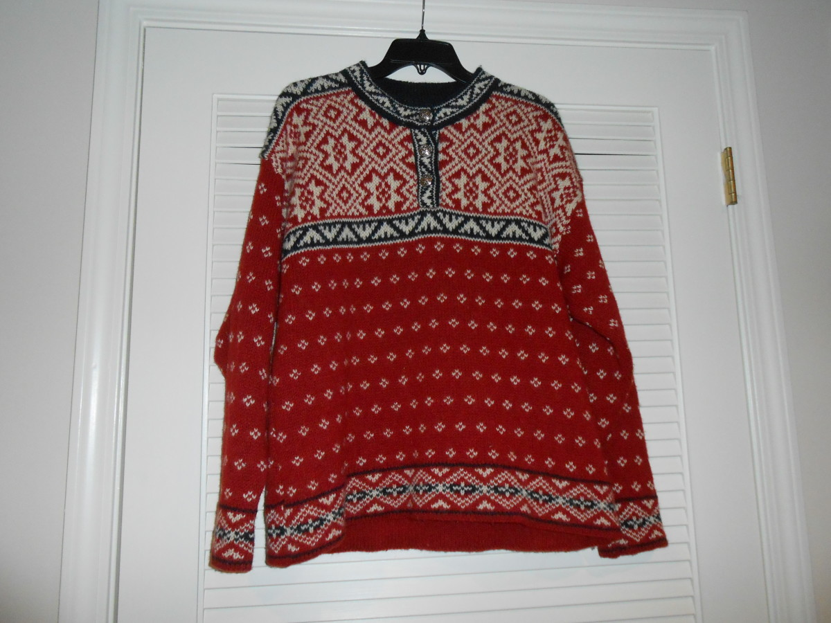 LL Bean sweater purchased at Goodwill for $5.96 and with the discount it was 4.47.