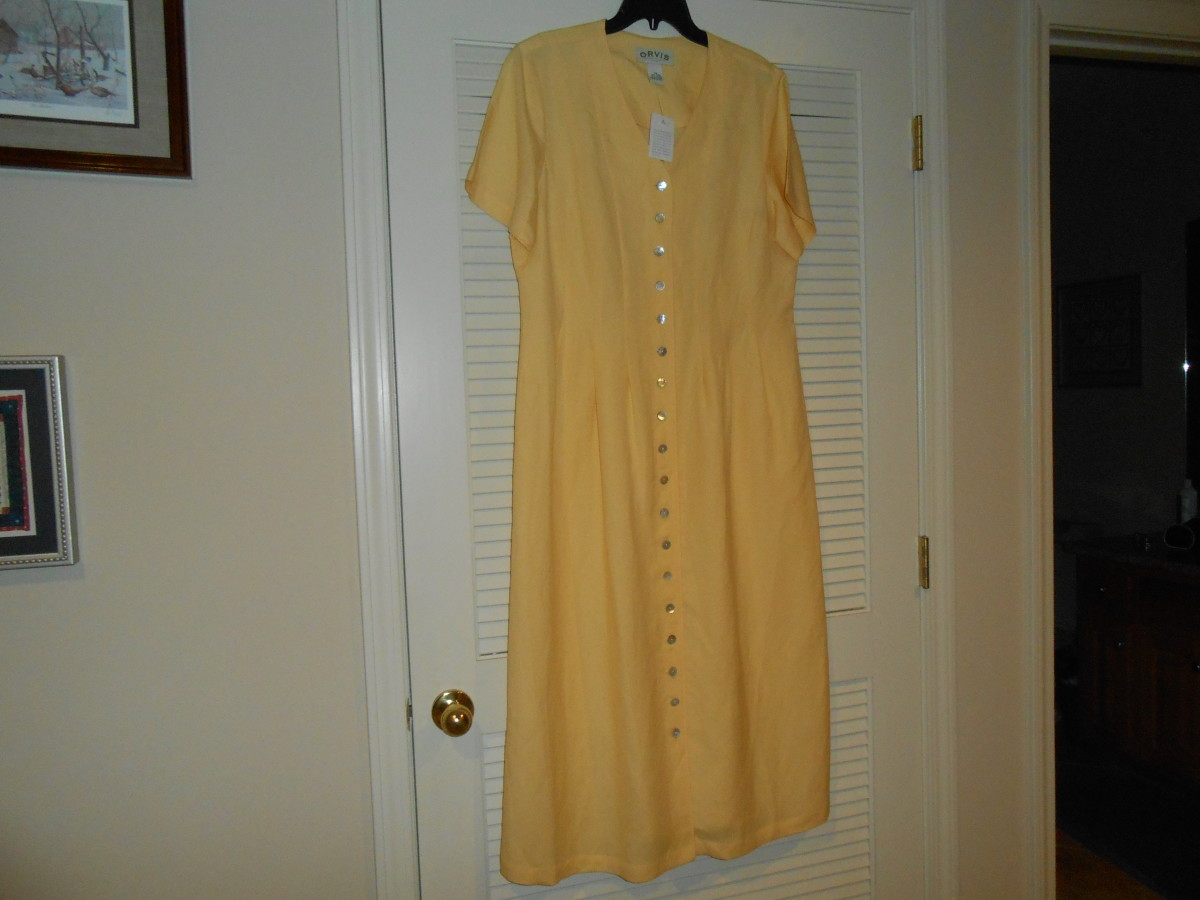 Orvis linen dress bought at a local thrift store for $4.00.