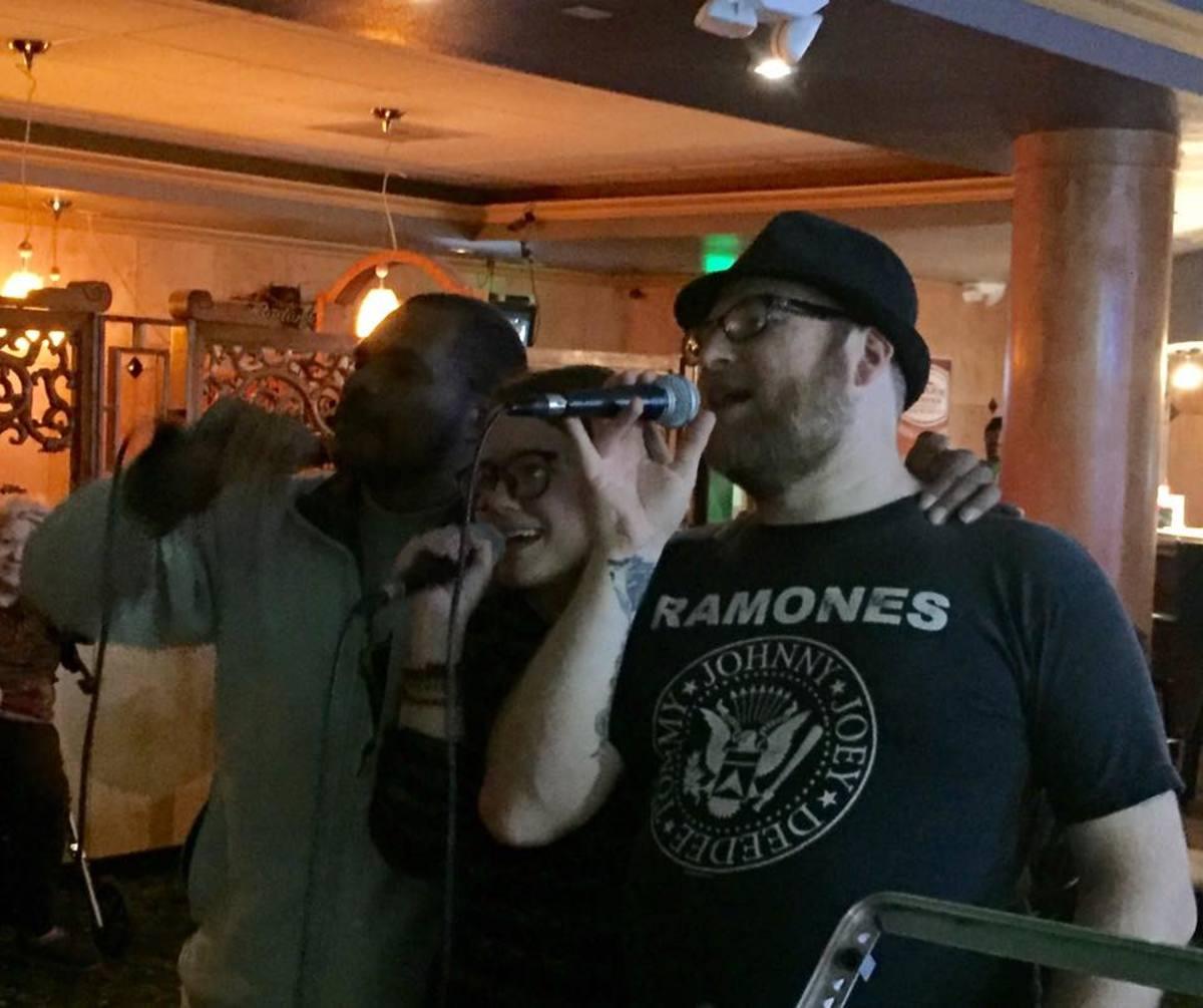 Three Way Karaoke. Some singers find courage in numbers.