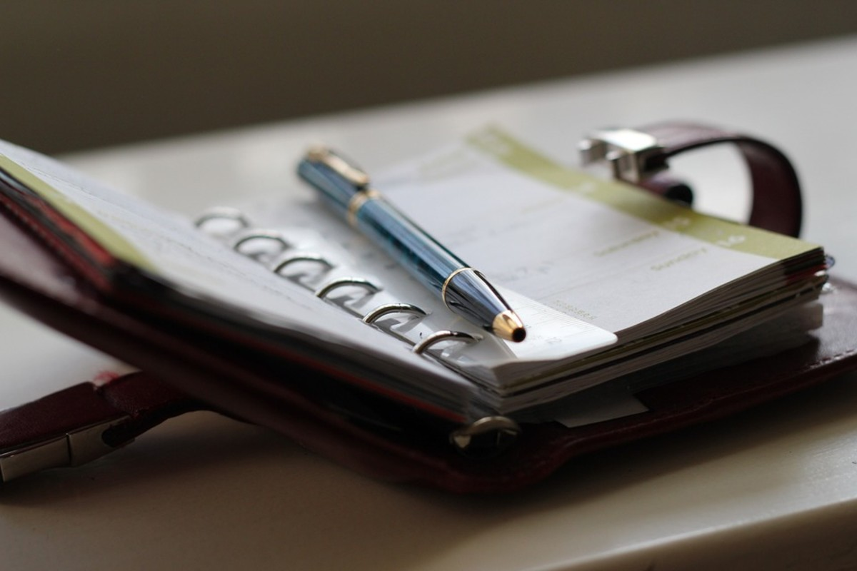 Keep a planner for all upcoming appointments and events.
