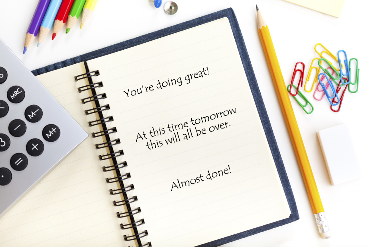 Encouraging Words to Yourself During Your Presentation Can Help!