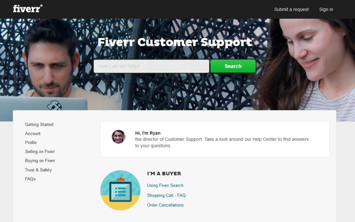 Customer Support on Fiverr