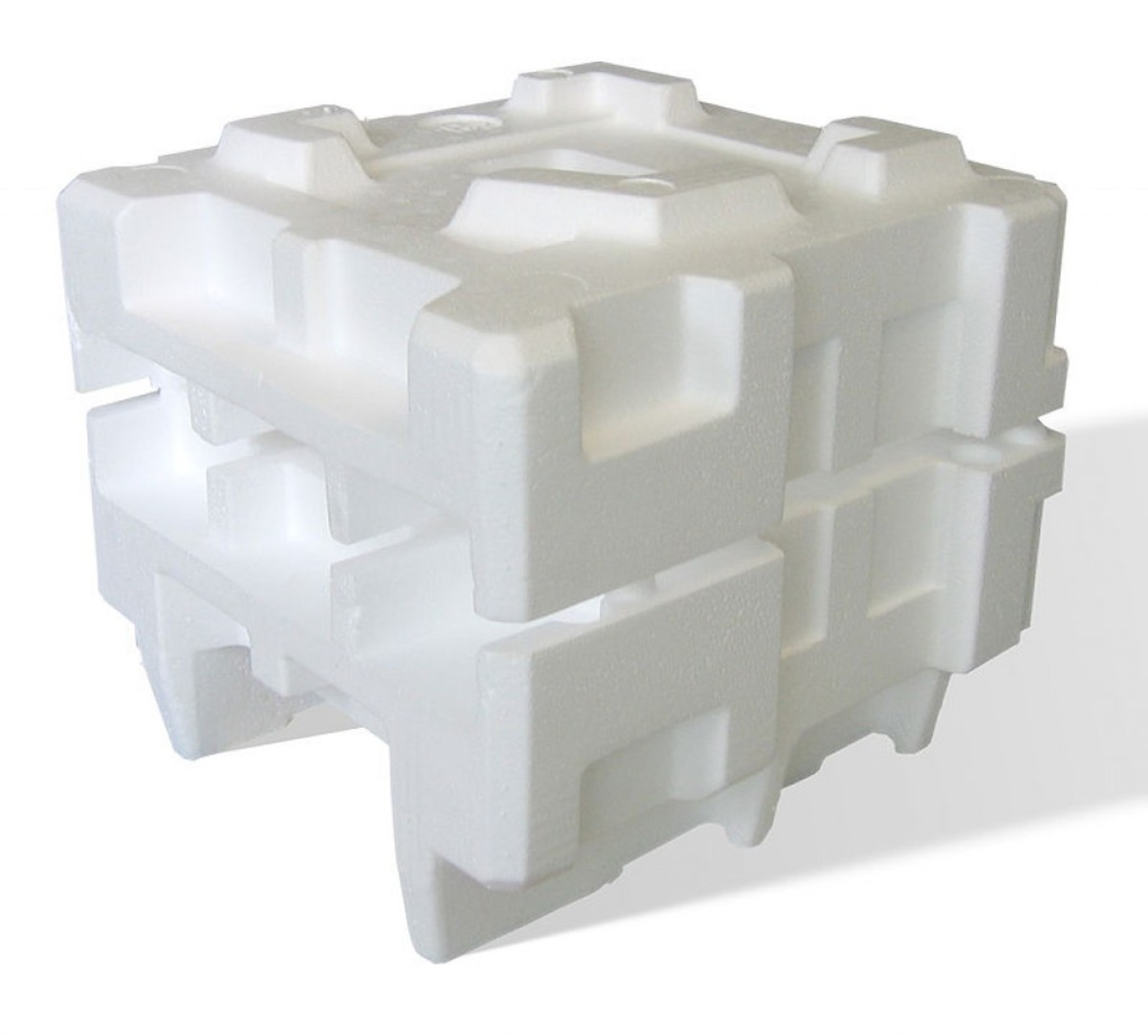 "Expanded polystyrene packaging. Polystyrene is also known by the brand name ""Styrofoam"". It is a very effective insulator"