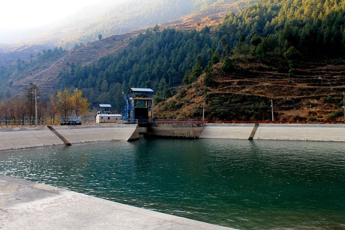 There are more than 20 hydropower companies in Nepal that are also listed in Nepal Stock Exchange. This is the dam-site of Chilime Hydropower, which trades in NEPSE using the ticker symbol CHCL.